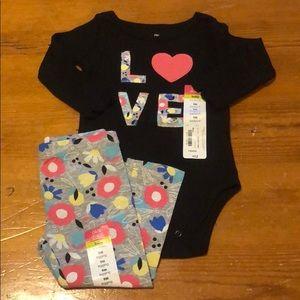 Floral Bodysuit and Pant Set